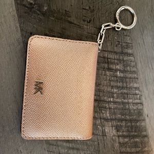 Rose gold Micheal kors keychain wallet